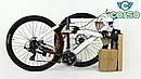 Спортивный велосипед ченый с оранжевым CORSO ATLANTIS 27,5 дюймов 24 скорости алюминиевая рама 19 дюймов, фото 9