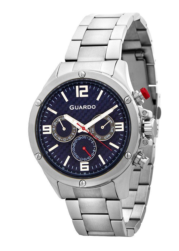 Часы мужские Guardo 11455-3 серебряные