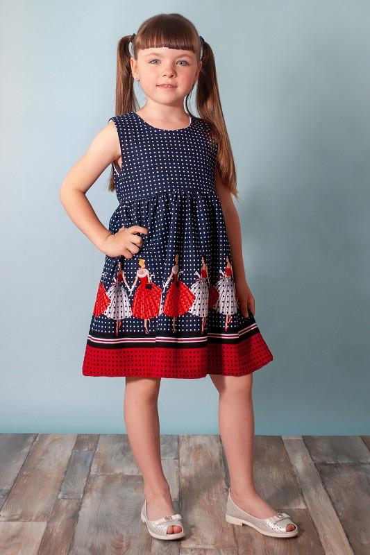 Детское летнее платье без рукавов