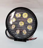 Фара LED дополнительная 12/24V, 9*3W, D=112 мм <Tempest>