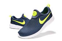Мужские кроссовки Nike Roshe Run Slip On синие, фото 1