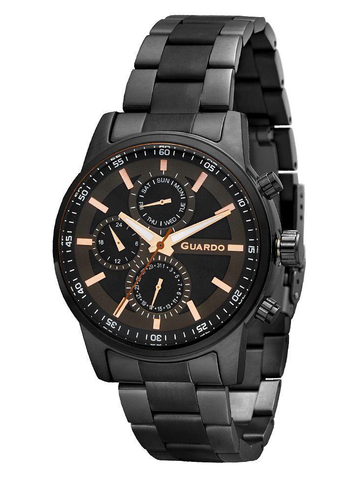 Годинники чоловічі Guardo 11633-5 чорні