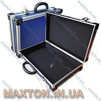 Ящик, чемодан, кейсдля инструмента, рыбалки, косметики и мелочей алюминиевый с замком 395х240х90 мм Htools