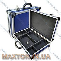 Ящик, чемодан, кейсдля инструмента рыбалки, косметики с перегородками и с замком395х240х90 мм Htools