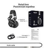 Складные беспроводные bluetooth наушники-гарнитура Bluedio T2+ 36 часов музыки, фото 10