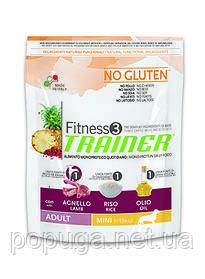 Trainer Fitness3 Adult Mini With Lamb Rice Oil - корм для взрослых собак мелких пород с ЯГНЕНКОМ, 7,5 кг