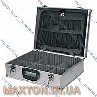 Ящик, чемодан, кейсдля инструмента рыбалки, косметики с перегородками и с замком455х330х152 мм Htools