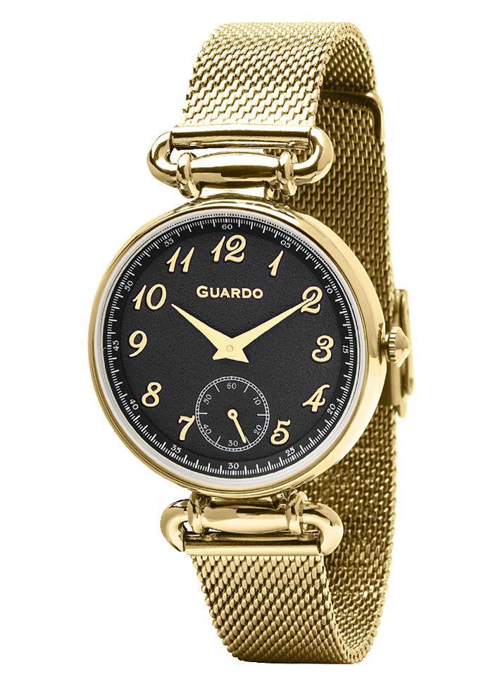 Часы женские Guardo 11894-3 золотистые