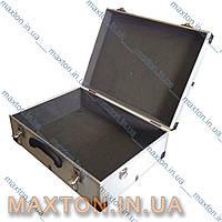 Ящик,чемодан, кейс для инструмента, рыбалки, косметики и мелочей алюминиевый с замком455х330х152 мм Htools