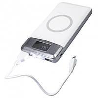 PowerBank Wireless Charger 20000 mAh с беспроводной зарядкой и фонариком White