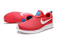 Женские кроссовки Nike Roshe Run Slip On красные, фото 1