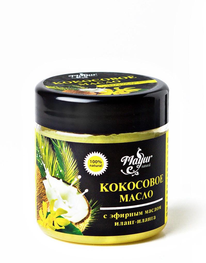Кокосовое масло для лица и тела с эфирным маслом иланг-иланга Mayur