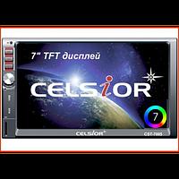 """Двухдиновый мультимедийный центр с 7"""" TFT сенсорным дисплеем  Celsior CST-7005"""