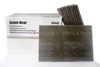 Абразивный  материал 3М™ Scotch-Brite™, S UFN, ультратонкий, серый, размер 158х224 мм (07448)