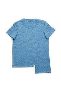 Детская футболка для мальчика базовая (синяя) 5-8 лет
