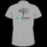 Патріотична футболка I love Ukraine з деревом