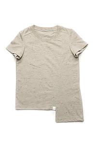 Детская футболка для мальчика базовая (серая) 5-8 лет