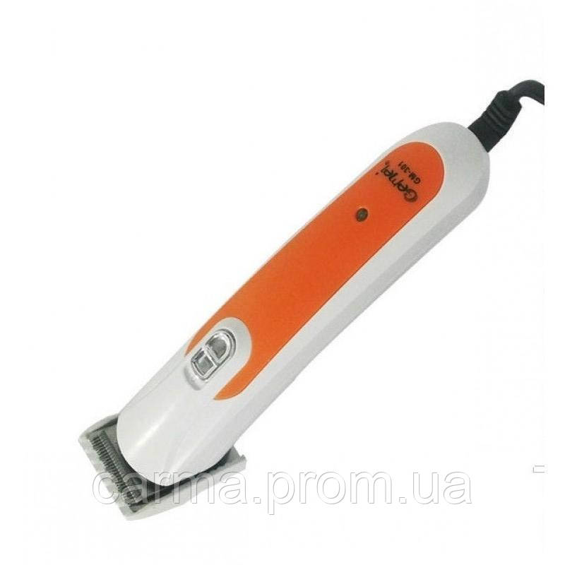 Машинка для стрижки Gemei GM 301 Белая с оранжевым