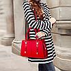 Женская сумка классическая с ручками Sue Красный, фото 3