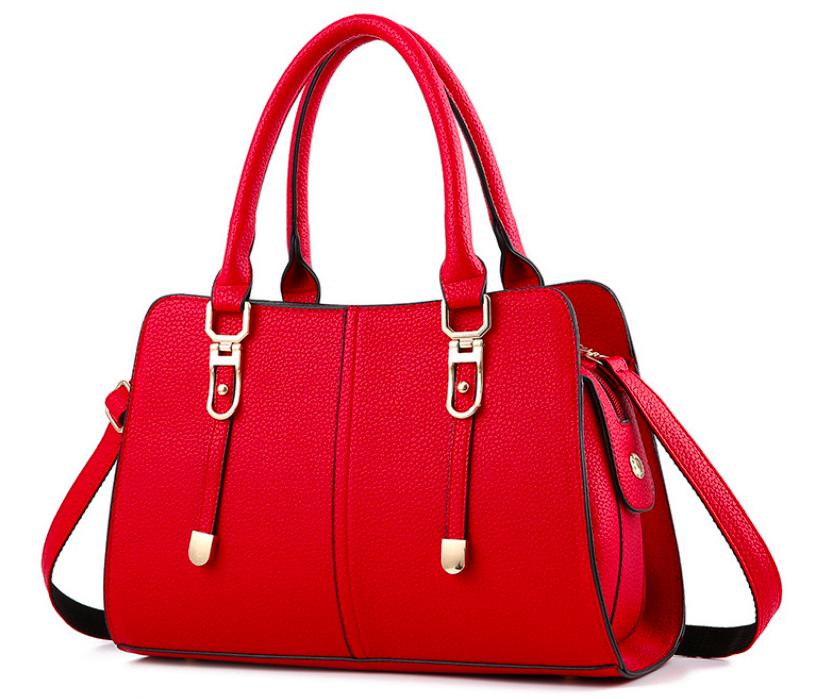 Женская сумка классическая с ручками Sue Красный