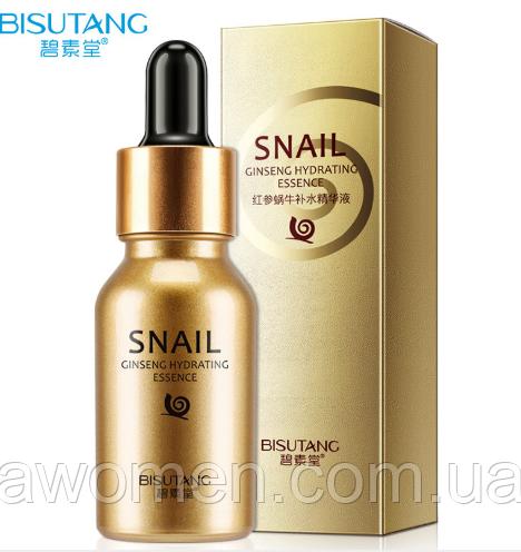 Сыворотка Bisutang Snail с улиткой и гиалуроновой кислотой 15 ml