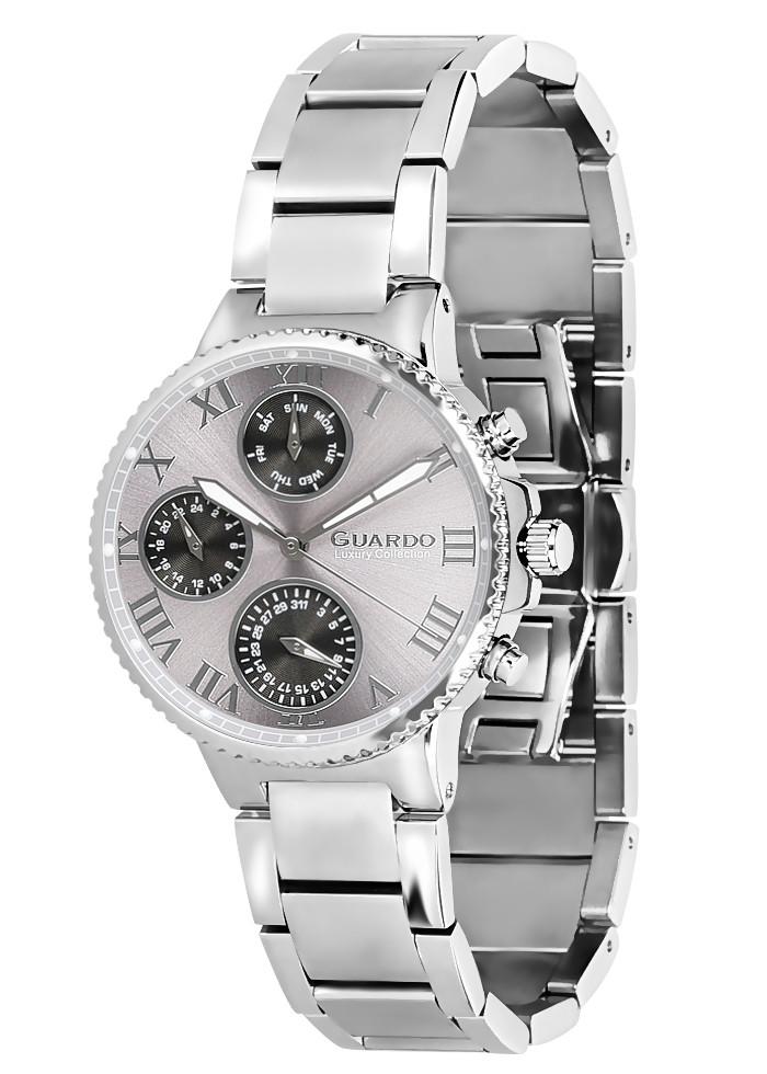 Часы женские Guardo S0503-2 серебряные
