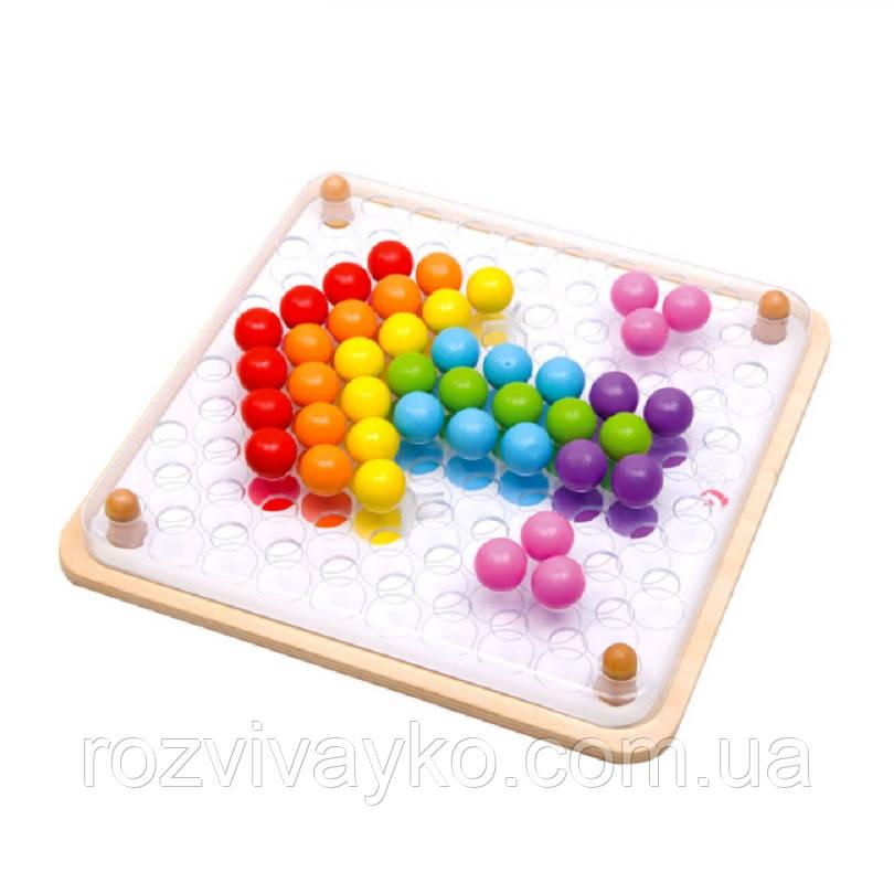 Деревянная мозаика конструктор Волшебные шарики / Мозаїка із кольоровими кульками Classic World 3597