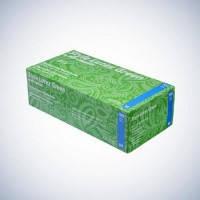 Перчатки зеленые без пудры AMPri Style Latex Green 6.2г, 100 шт/уп., фото 1