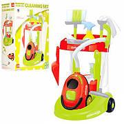 Детский игровой набор для уборки Bambi Cleaning Set XS14066 со светом (тележка, пылесос, щетки, аксессуары)