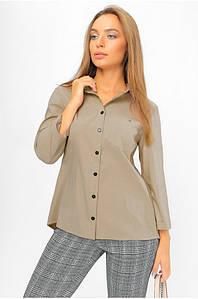Рубашка с асимметричной спинкой Бежевая