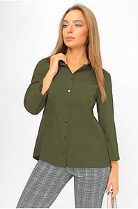 Рубашка с асимметричной спинкой Хаки