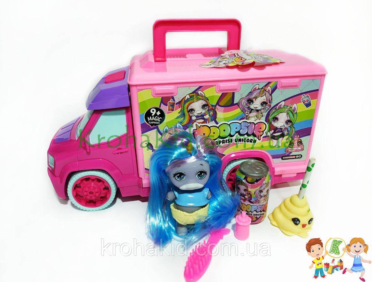 Игровой набор Автобус Пупси Poopsie Единорог со слаймом -  Кукла пупс единорог  - аналог