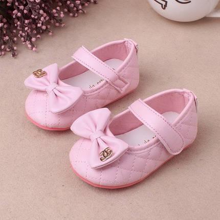 Туфли  нарядные детские  на малышек Шанель 15-19р. розовые, фото 2