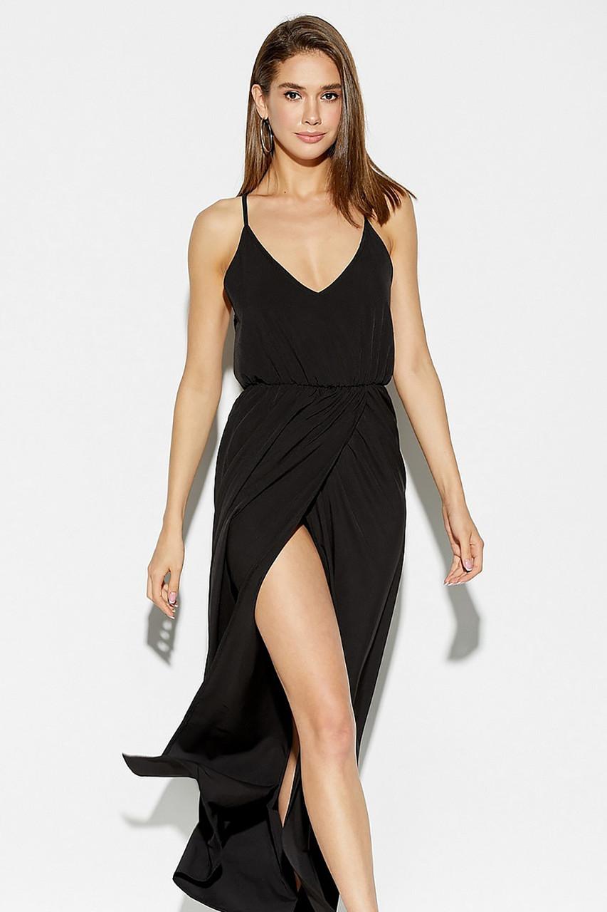 M   Жіноче легке чорне плаття-максі Monreal