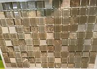 Бежевая мозаика из стекла и камня на кухню D-Core D307