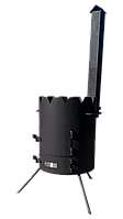 Печка под казан «Маричка» 400мм., с дымоходом. Сталь 3мм. (М400Д)
