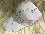 Женская бейсболка  белая из тонкого армированного хлопка  с большим вырезом для волос, фото 2