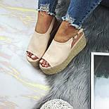 😜 Женские бежевые босоножки, фото 4