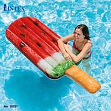 Пляжный надувной матрас - плот Intex «Арбузное мороженое», 191 х 76 см, фото 2