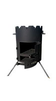 Печка под казан «Маричка» 400мм., без выхода на дымоход. Сталь 3мм. (М400)