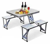 Раскладной стол со стульями Aluminum Picnic Table