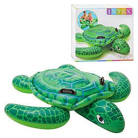 Детский надувной плотик «Черепаха» (150х127 см). В коробке