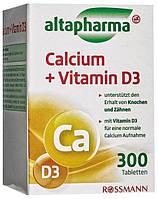 Altapharma Calcium + Vitamin D3 - Кальций + витамин D3, 300 табл., 253 г