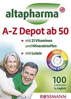 Altapharma A-Z Depot ab 50 - Витамины и минералы от А до Цинка 50+, 100 табл., 138 г