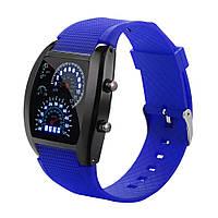 Мужские светодиодные электронные часы (Синие)
