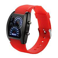 Мужские светодиодные электронные часы (Красные)