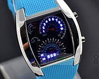 Мужские светодиодные электронные часы (Голубые)