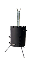 Печка под казан «Маричка» 500мм., с дымоходом. Сталь 3мм. (М500Д)