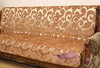 Комплект покрывал Виток крупный на диван и кресла. Цвет - коричневый
