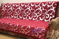 Комплект покрывал Виток крупный на диван и кресла. Цвет - бордо